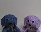 Puppy Dog Custom Memory Stuffed Animal Made From Shirts of a Loved One
