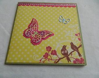 Brag Book Folio Album Butterflies and Birds