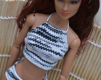 High-neck Bikini Set for 12in Fashion Dolls