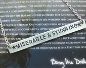 miserable & stunning // fall out boy - hand-stamped aluminum necklace. discount -- see description.
