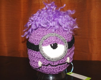 Baby Hat Purple Minion Character Hat