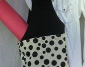 Yoga Bag Sparkly Polka Dot and Sequined trimmed Yoga Bag Hobo Bag Again