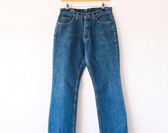 Vintage Lee Jeans >> Straight Leg High Rise Blue Made In Ireland >> UK 10 / Euro 38 / US 6 / Waist 28 Leg 29