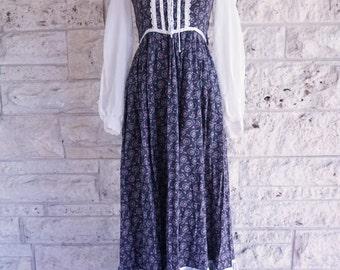 Gunne Sax Dress 70's Gunne Sax Small Jessica McClintock 70s Peasant Dress Size 3 Small Prairie Dress Hippie Boho