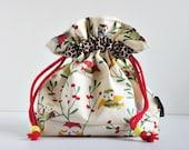 Owls Cotton Drawstring Bag gift