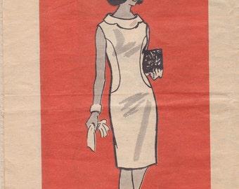 Scallop Collared Dress Pattern 4911 Size 16