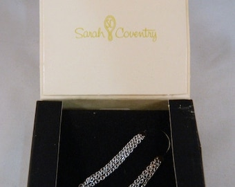 Vintage Sarah Coventry Silver Delicate Necklace Chain /  1970s Simple Necklace Chain in the Original Box New Old Stock