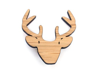Deer brooch - Stag brooch - Stag head - deer jewelry - stag jewely Christmas jewellery