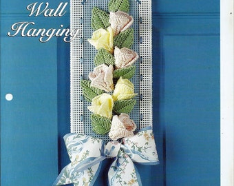 Floral Wall Hanging Plastic Canvas Collector's Series Pattern The Needlecraft Shop 994004