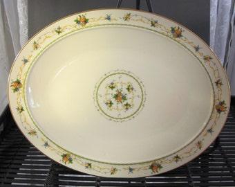 """Vintage 70's Noritake"""" Normandy"""" large oblong platter 16"""""""