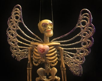 Dead Skeleton Fairy with Heart