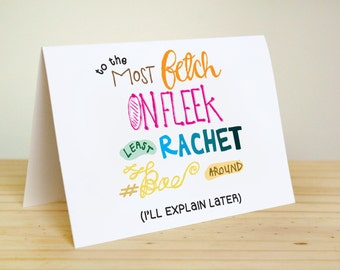 Fetch / On Fleek / Rachet - Love, Anniversary Card for Bae, Valentine's Day