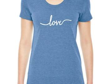 Love Yoga TShirt, Womens Clothing, Love TShirt, Yoga Clothing For Women, Available: S M L Xl Color Options