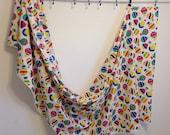 Vintage Hot air balloon fabric, vintage fabric yardage, vintage fabric remnant, childrens fabric