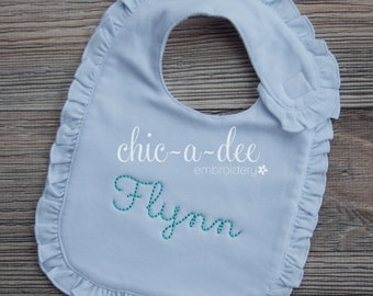 Personalized Ruffle Bib