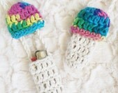 2 for 12 - Customizable Mushroom Lighter Holder - 40+ Different Colors - Crochet Bic Lighter Leash Necklace - Made to Order - Noelebelle