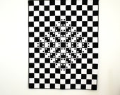 Optical Illusion Quilt, Black & White Quilt, Optical Illusion, Modern Quilt, Contemporary Lap Quilt, Black and White