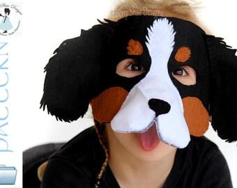 Dog Mask sewing PATTERN. Pdf download.