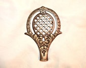 Big Big Bedazzling Lamp Finial, Vintage Iron with Brass Plating