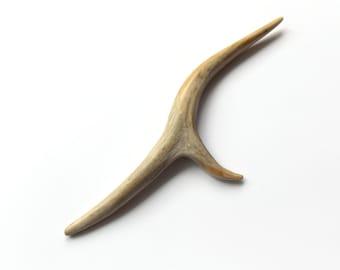 Antler Hair stick, Hair Stick, Hand Carved Roe Deer, Hairpin Hair Piece, Unicorn Horn, Forest Natural Hair Accessory Handmade, MariyaArts