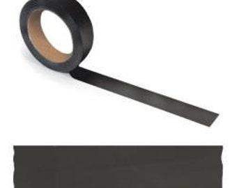 Black Chalk Tape -- 1/2 Inch Wide --  8 Yards