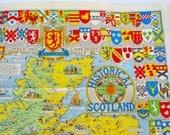 Historical Map of Scotland John Bartholomew Edinburgh Vintage Map Antique Map Vintage Ephemera