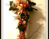 Victorian Tussie Mussie Dried Flower Handcrafted OOAK Romantic Inspired Wall Decoration Floral Arrangement