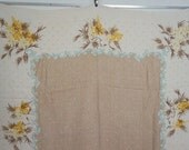 Mustard Yellow Rectangular Vintage Tablecloth with Regency Border