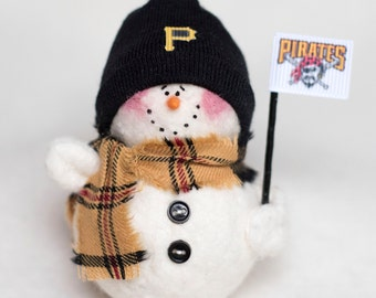 Pittsburgh Pirates Snowman Ornament