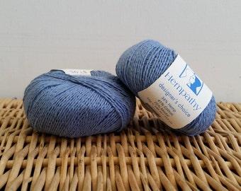 Cotton Yarn, Hemp Yarn, Sport Yarn, Elsebeth Lavold Hempathy, Natural Yarn, Bluebird 70