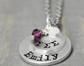 Sigma Sigma Sigma Necklace, Sorority Necklace, Name Necklace, Sigma Sigma Sigma Jewelry,  Sorority Sister Gift, Sorority Jewelry