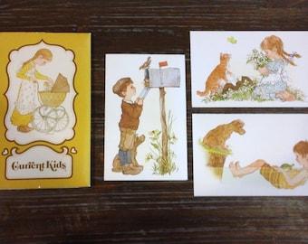 Vintage Current Brand Blank Kids Cards Boy Girl Note Paper Ephemera