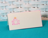 Handmade Set of 8 Fairy Tale Frog with Crown Place Cards