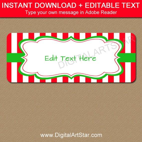 editable holiday address labels christmas return address labels christmas template download. Black Bedroom Furniture Sets. Home Design Ideas