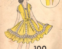 1970's C&C Original Square Dance Dress and Jacket pattern - Size 6-8-10 - No. 100