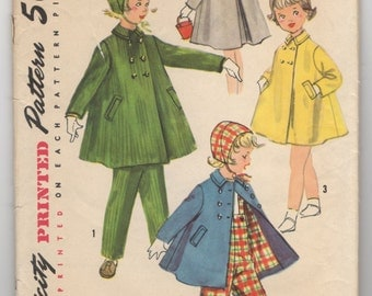 1950's Simplicity Child's Jacket and Hat pattern - Size 6 - No. 1788