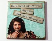 Funny Magnet, Magnet, gift for mom, Retro, Kitchen Magnet, Fridge magnet, Humor, Cuss Words, Sentence Enhancers, Humorous Magnet (5285)