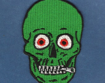 MonsterPants Zipper Skull Patch