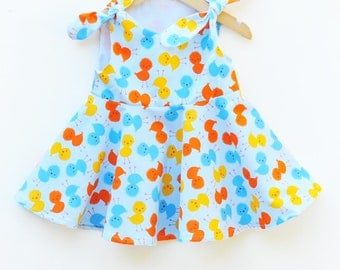 Easter Baby Dress - Toddler Dress Party - Baby Chicks Outfit - Toddler Beach Wear - Children Clothing - Handmade in USA - 3M to 6