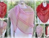Pattern only - Bacall Shawl pattern crochet lace pattern scarf large