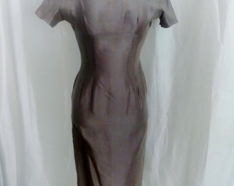 Vintage 50s womens dress, cocktail dress, evening dress