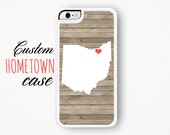 Custom iPhone Case - iPhone 5 Case - iPhone 5s Case - iPhone 6 Case - iPhone 6 Plus Case - Personalized Phone Cases - Home State Phone Cases