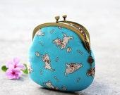 Dog coin purse Japanese fabric