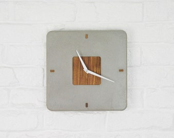 SALE : Concrete Clock / Square Concrete Clock / Circular Concrete Clock