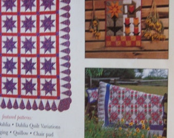 Dahlia Quilt Pattern Book softcover book
