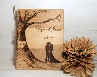 Wedding Guest Book, Words of Wisdom Book, Rustic Wedding,Personalized Guest Book, Cowboy, Country Wedding, Custom Guest Book,