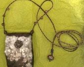 Epimeliad - wet felted amulet bag