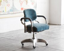 """1950s Industrial """"GoodForm"""" Single Loop Steno Chair, Refinished"""