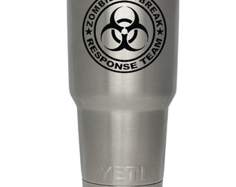 Zombie Response Team Yeti Decal, Zombie Response Team Tervis Decal, Zombie Response Team Tumbler Decal