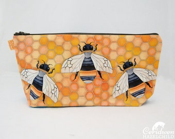 Bumble Bee Toiletry Wash Bag / Makeup Bag / Pencil Case